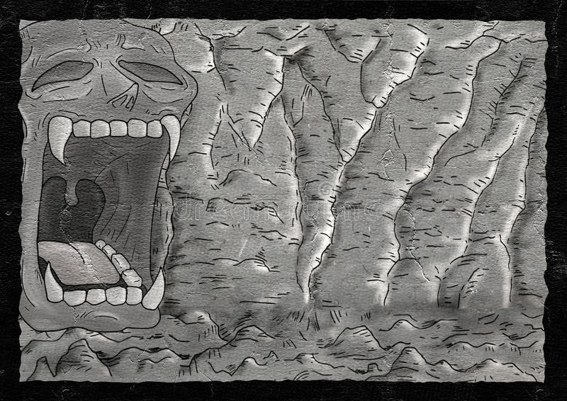 Mystery cavern illustration. Creative design of mystery cavern illustration royalty free illustration