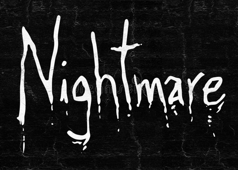 Nightmare art symbol stock photo