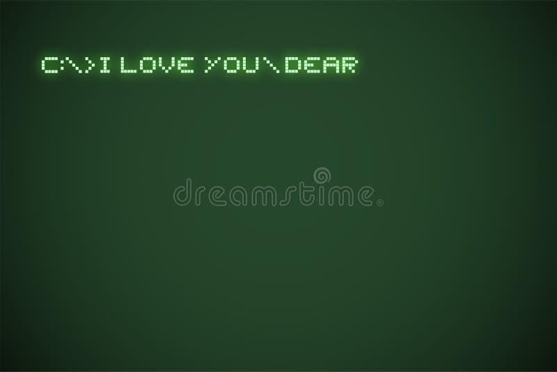 Original I love you dear message stock illustration
