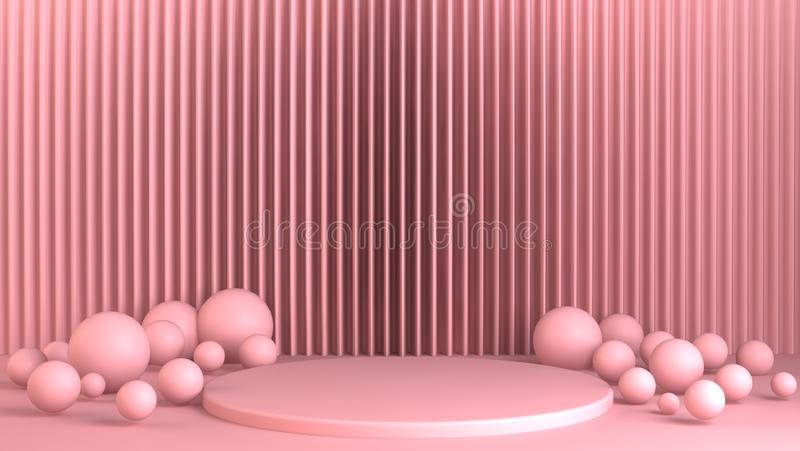 Creative design pink pastel color background. royalty free stock photos