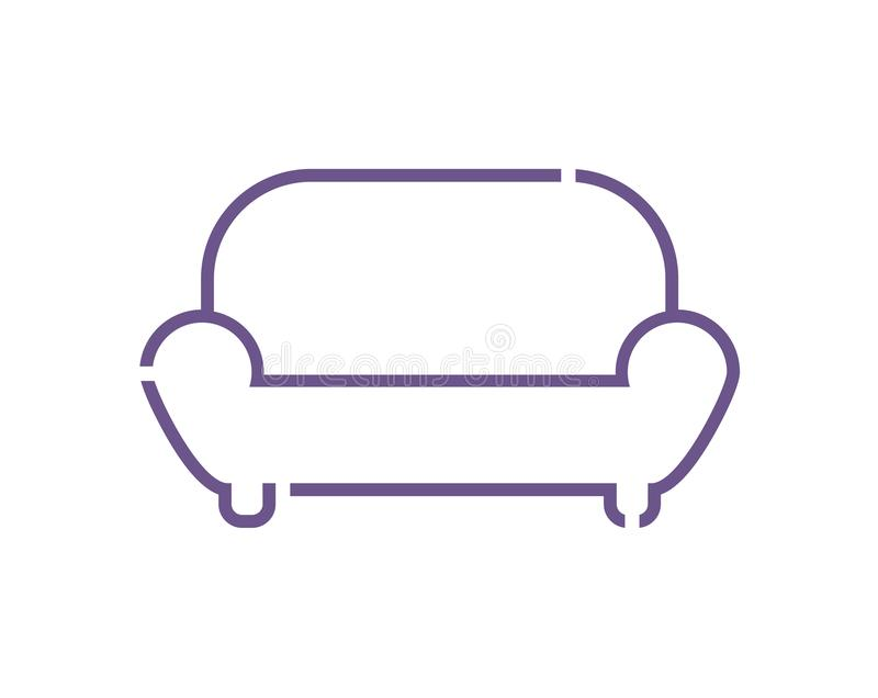 Creative design of sofa. Illustration vector illustration