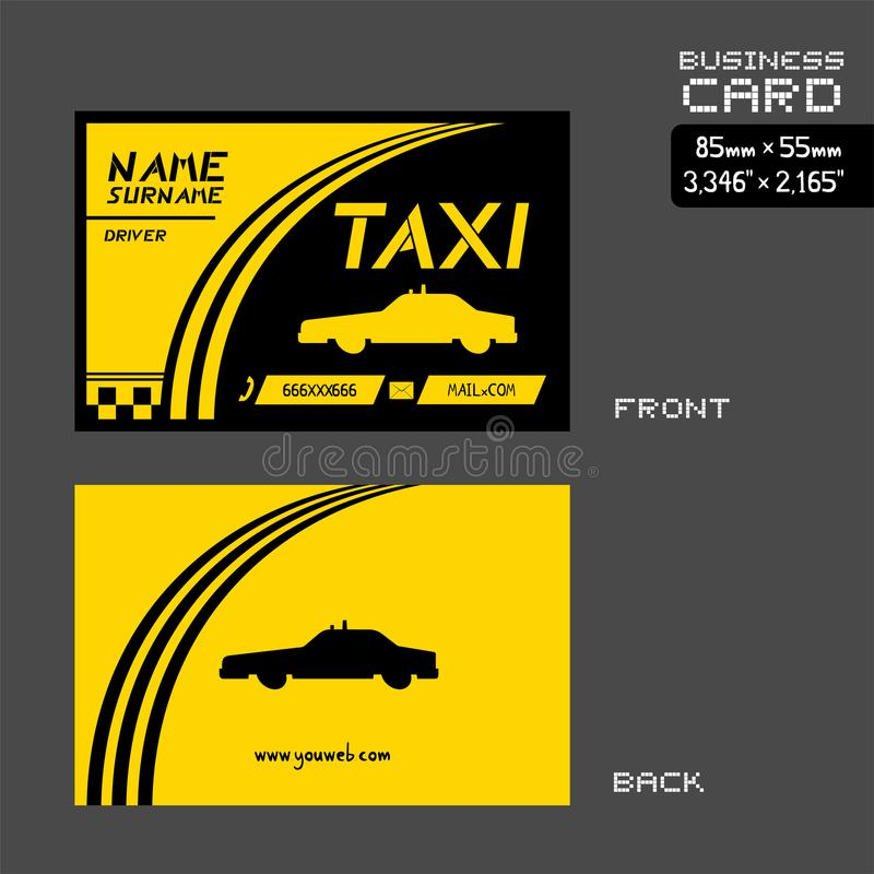 Taxi business card stock vector. Illustration of abstract - 100826190