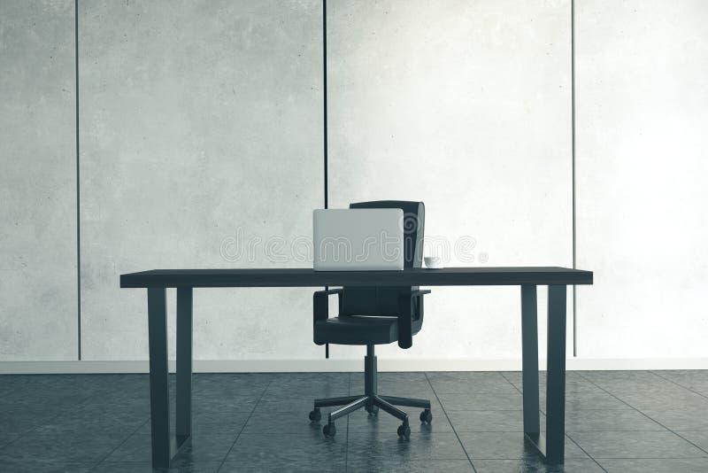 Creative designer desktop. With laptop, Design and living concept. Mock up, 3D Rendering vector illustration