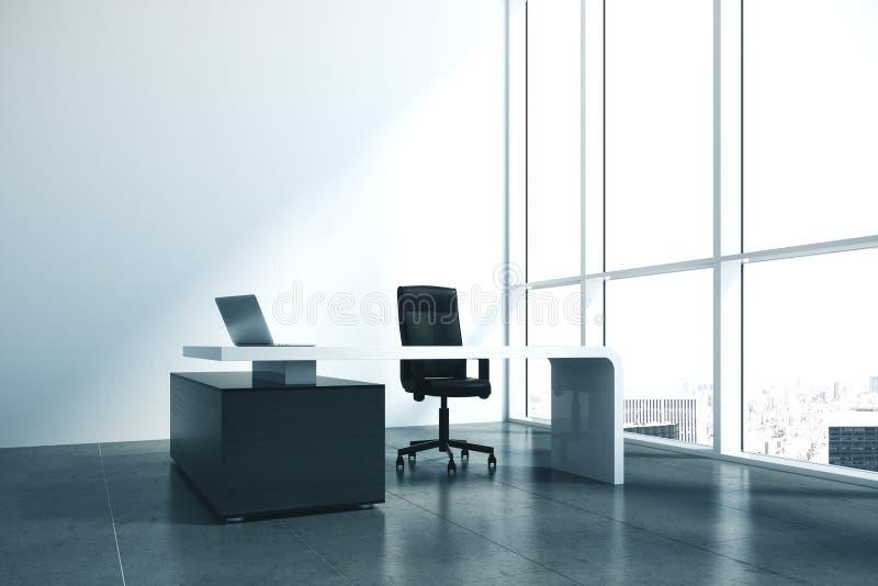 Creative designer desktop with laptop. Design and living concept. Mock up, 3D Rendering royalty free illustration