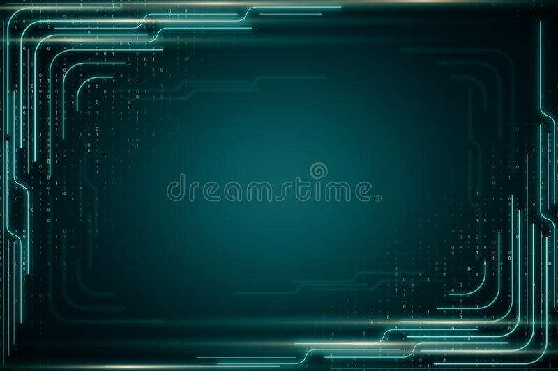 Creative digital background stock illustration