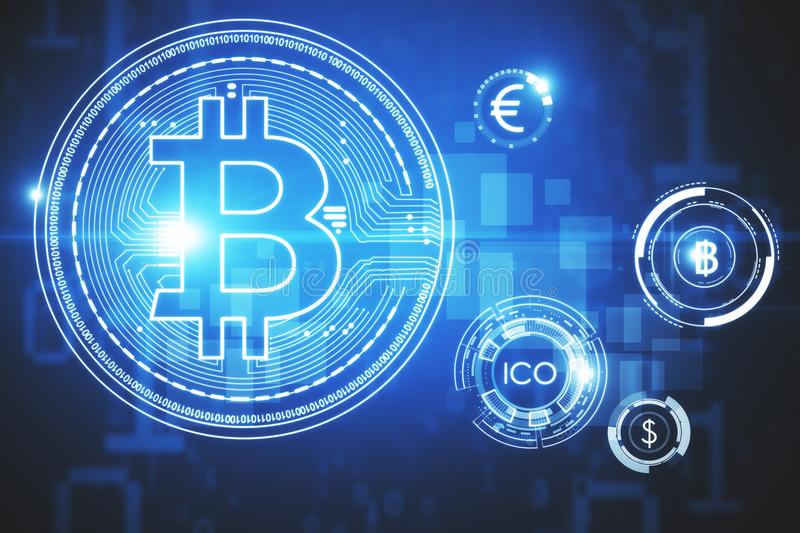 Cryptocurrency and payment concept royalty free illustration