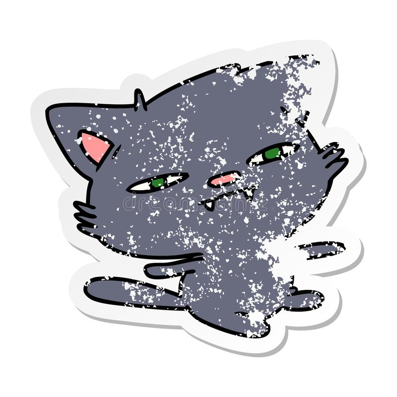Distressed Grunge Worn Old Sticker Decal Cartoon Kawaii Cute