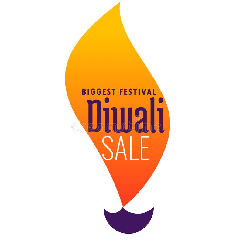 Creative diwali sale banner made from diya design vector illustration