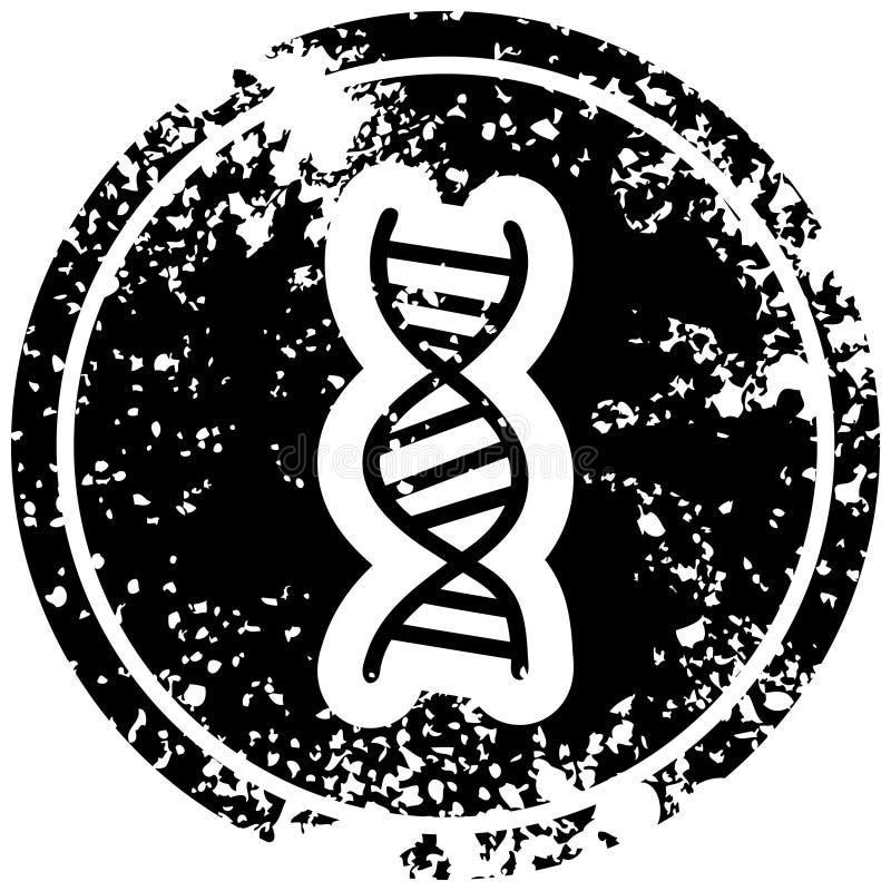 A creative DNA chain distressed icon. An original creative DNA chain distressed icon stock illustration