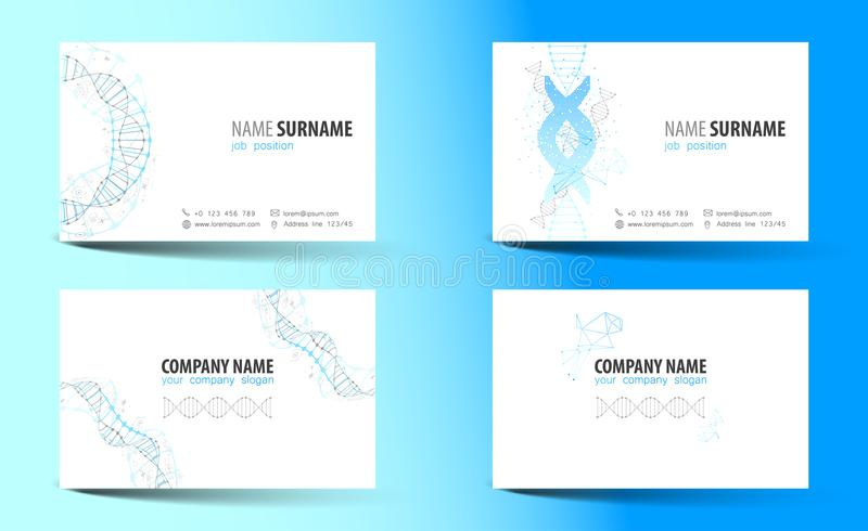 Creative double sided business card template dna theme stock download creative double sided business card template dna theme stock vector illustration accmission Gallery