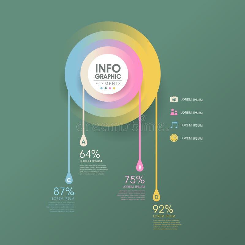 Creative drop infographics design stock illustration