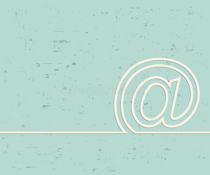 Creative e-mail. Art illustration template background. For presentation, layout, brochure, logo, page, print, banner, poster,. Creative e-mail. Art illustration royalty free illustration