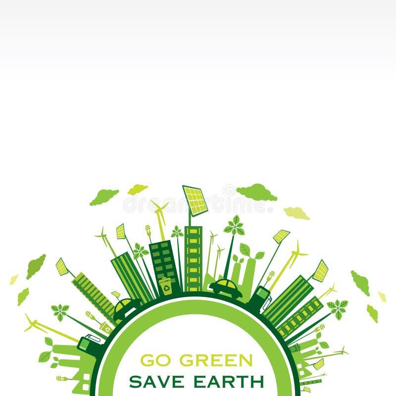 Creative eco-friendly city design vector royalty free illustration