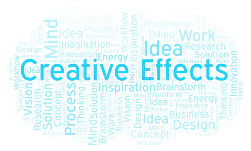 Creative Effects word cloud, made with text only. Creative Effects word cloud, made with text only stock illustration