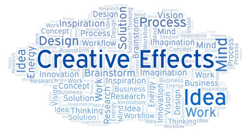 Creative Effects word cloud, made with text only. Creative Effects word cloud, made with text only vector illustration