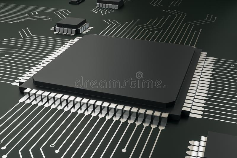 Creative empty circuit chip vector illustration