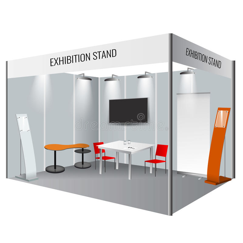 Simple Exhibition Stand Vector : Creative exhibition stand design booth template