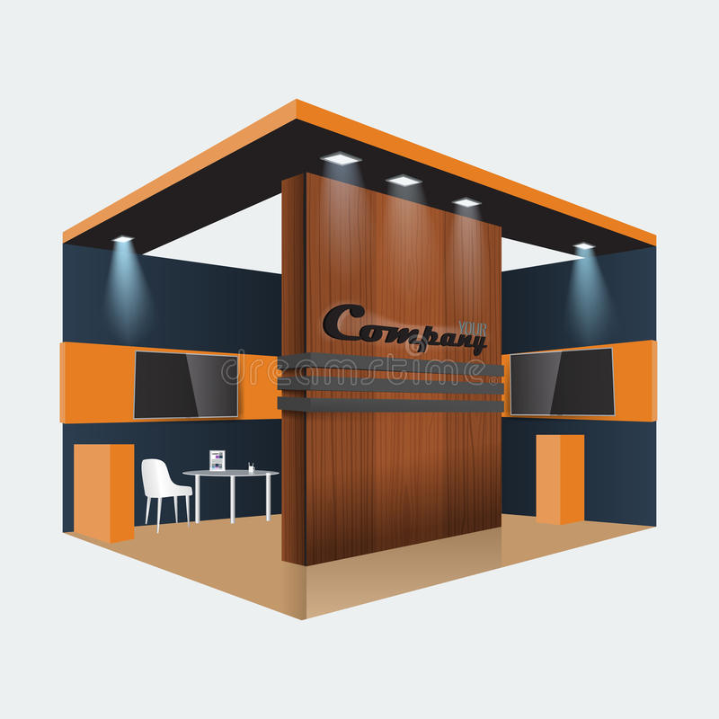 Exhibition Booth Vector Free Download : Creative exhibition stand design booth template