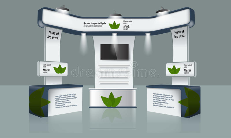 Exhibition Booth Vector Free Download : Creative exhibition stand design trade booth template