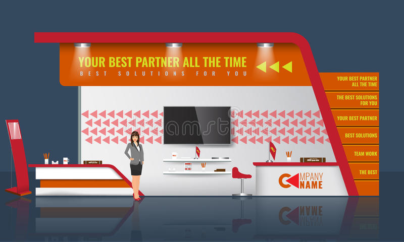 Exhibition Stand Design Vector : Creative exhibition stand design trade booth template