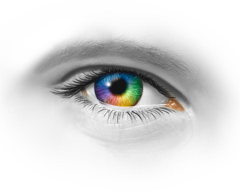 Download Creative Eye stock illustration. Image of contact, rainbow - 23527189