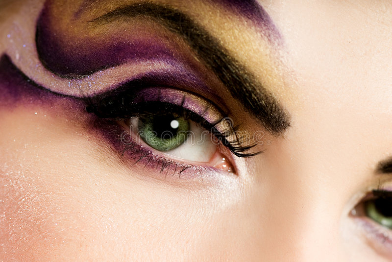 Creative eye paint royalty free stock photo