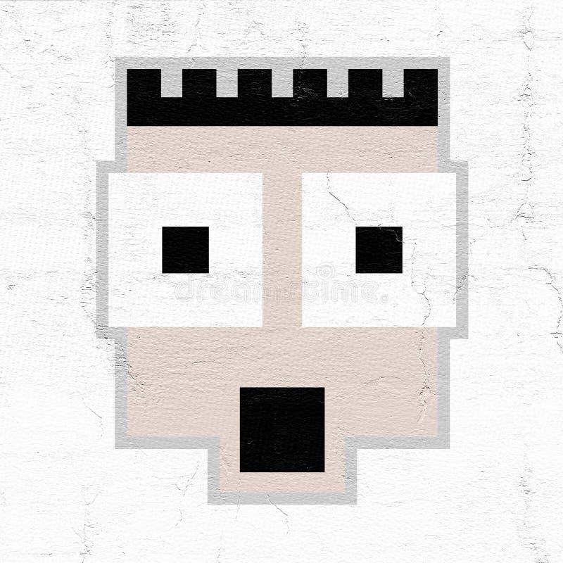 Creative face stock illustration