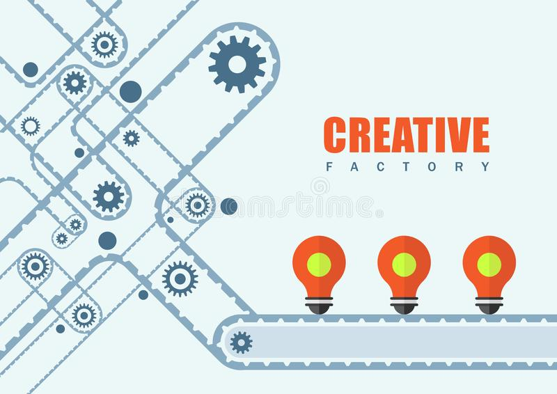Creative factory business and education background stock illustration
