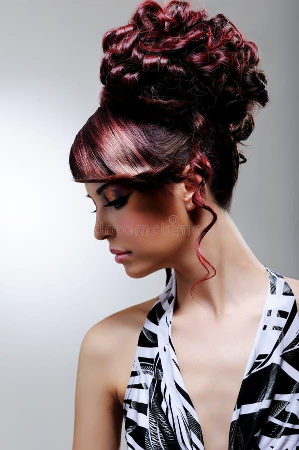 creative fashion female hairstyle στοκ φωτογραφίες με δικαίωμα ελεύθερης χρήσης