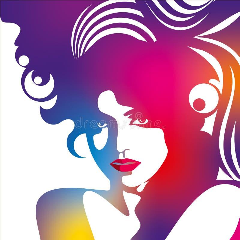 Creative fashion in glamorous style vector illustration