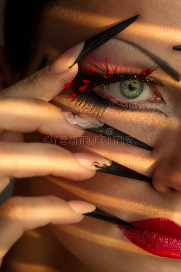 Download Creative Fashion Makeup And Manicure Stock Photo - Image: 35270410