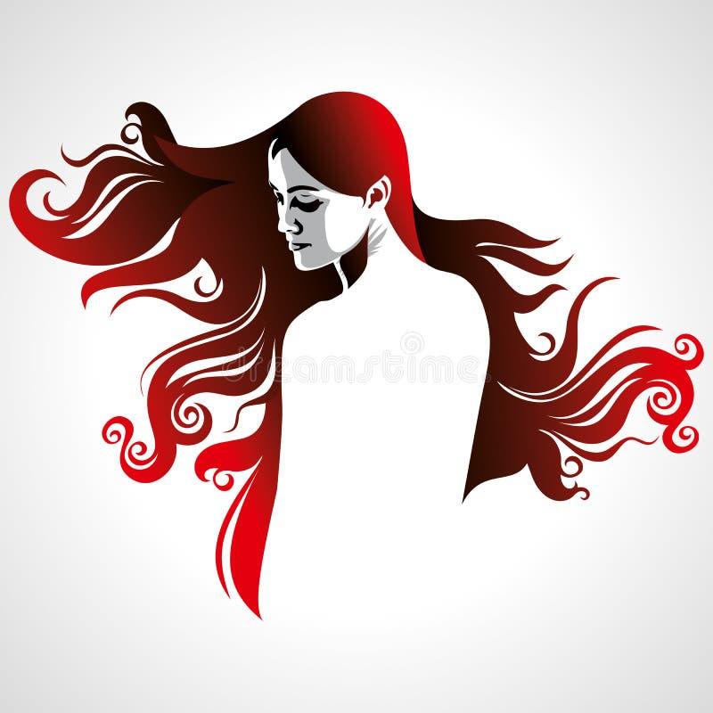 Creative fashion portrait of a model royalty free illustration