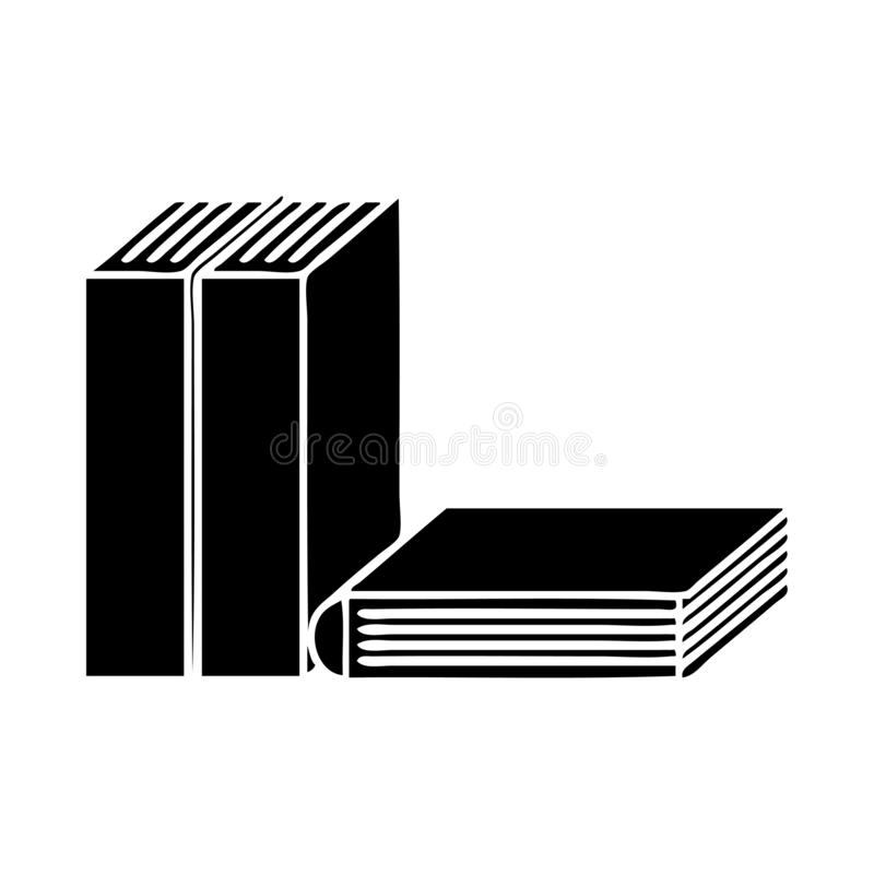 A creative flat symbol of books royalty free illustration