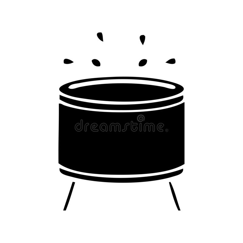 A creative flat symbol drum stock illustration