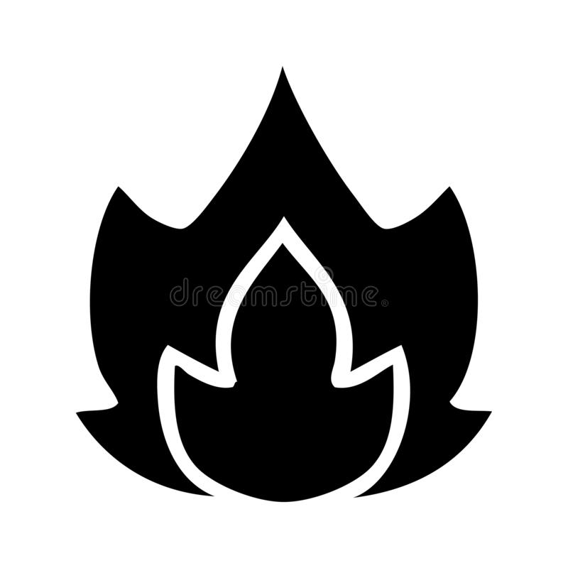 A creative flat symbol fire vector illustration