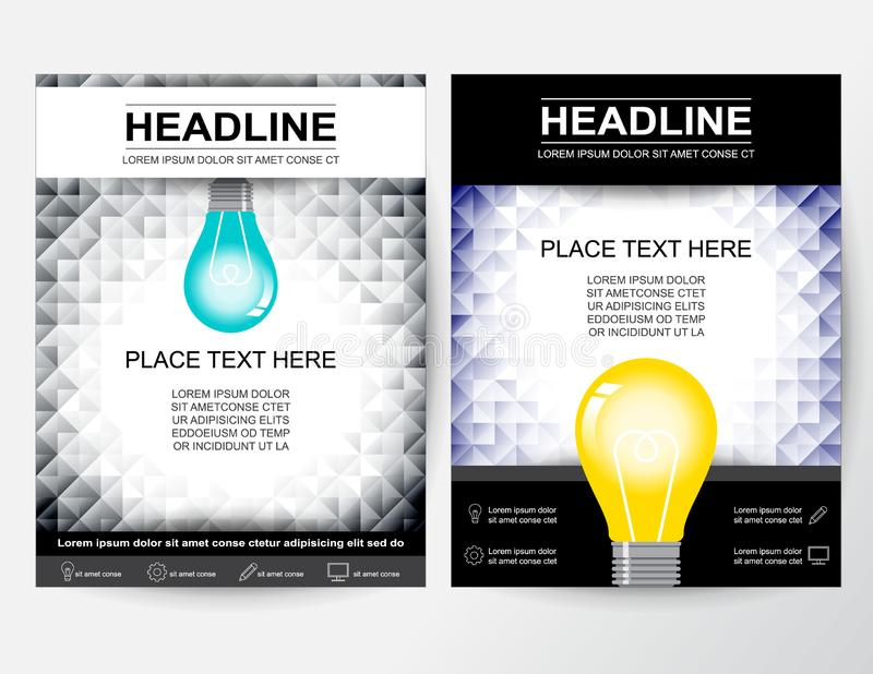 Creative flyer abstract design layout for business in A4 vector illustration