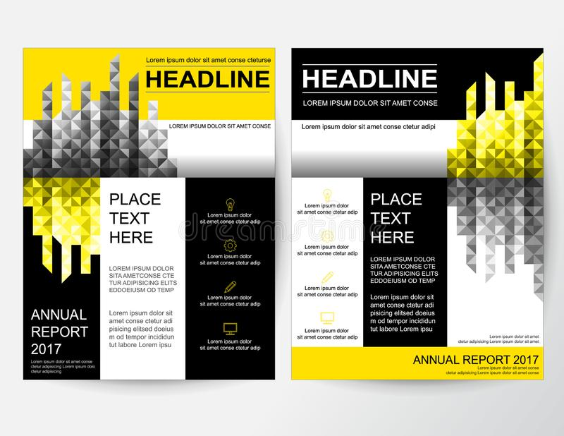 Creative flyer abstract design layout for business in A4 stock illustration