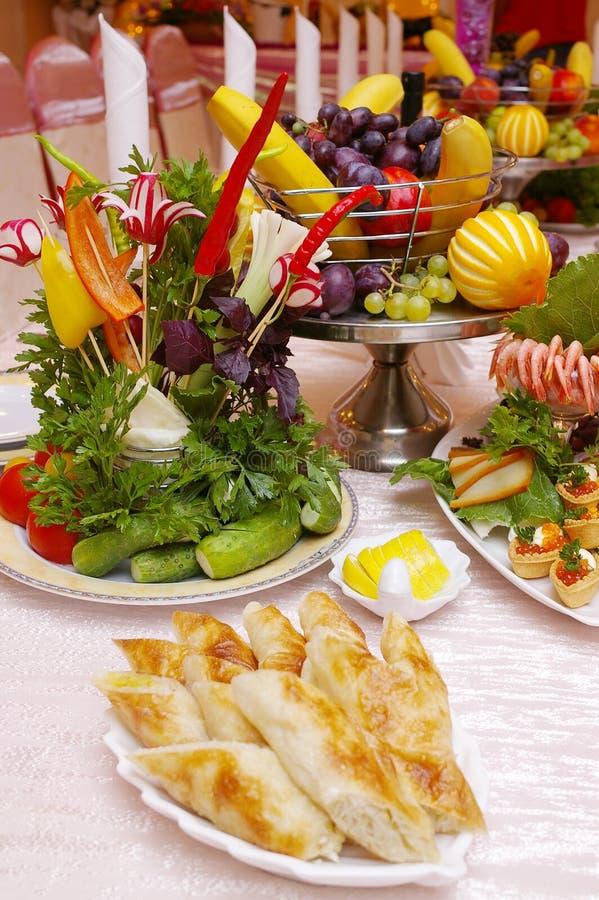 Creative food arrangement stock images