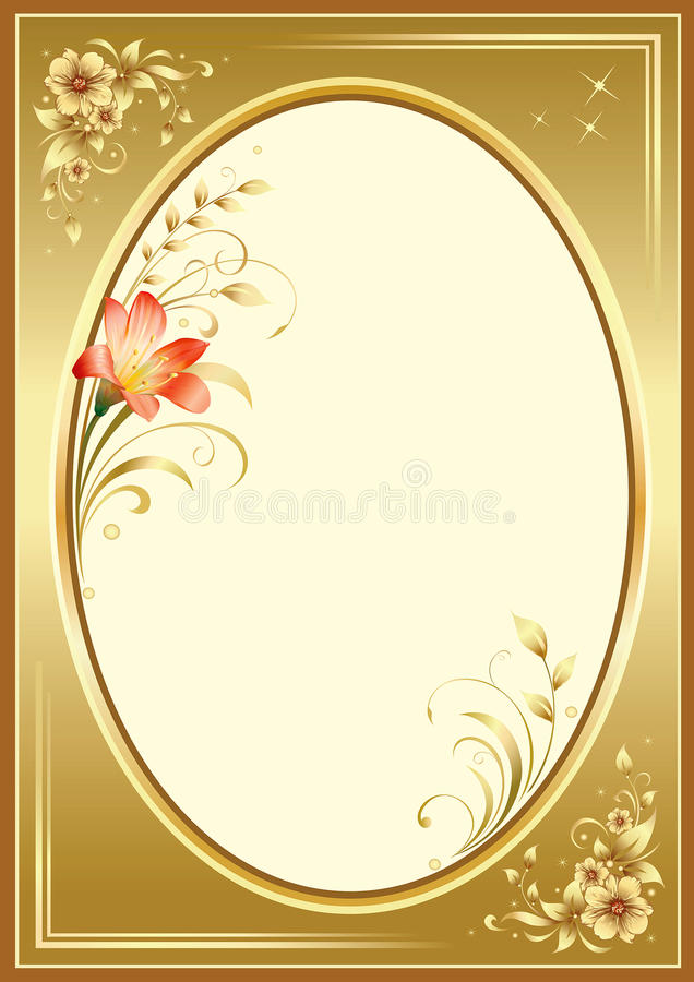 Creative frame with floral elements stock illustration
