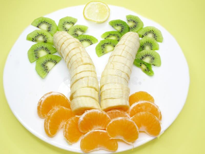 Creative fruit dessert royalty free stock image