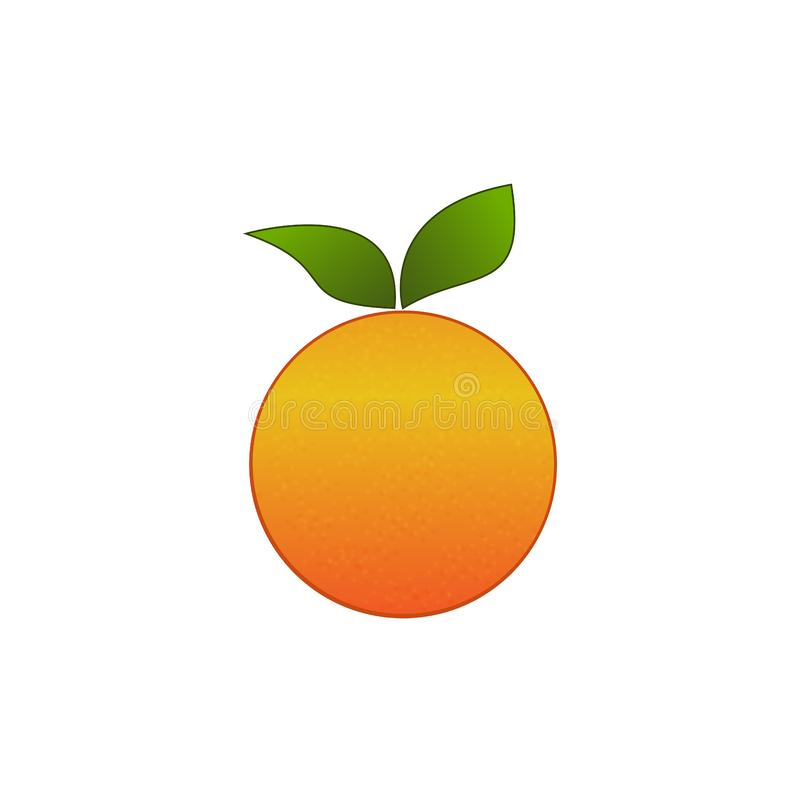 Creative fruit shop logo healthy food orange shape royalty free illustration