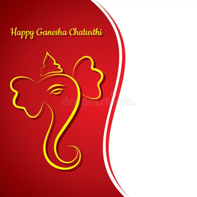 Creative ganesh chaturthi festival greeting card background royalty free illustration