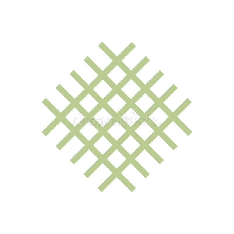 Vector geometric logo creative simple minimal design. Creative geometric logo design simple minimal flat square brand modern unique stock illustration