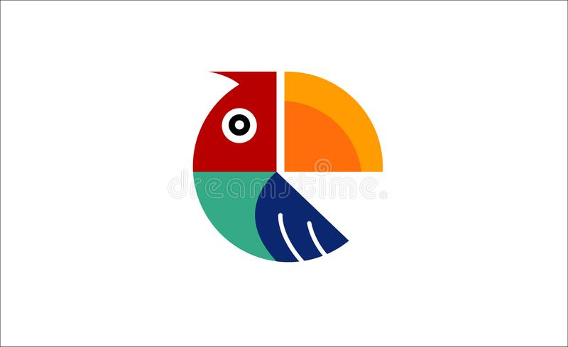 Creative Geometric Parrot Logo Symbol Design. Illustration vector illustration