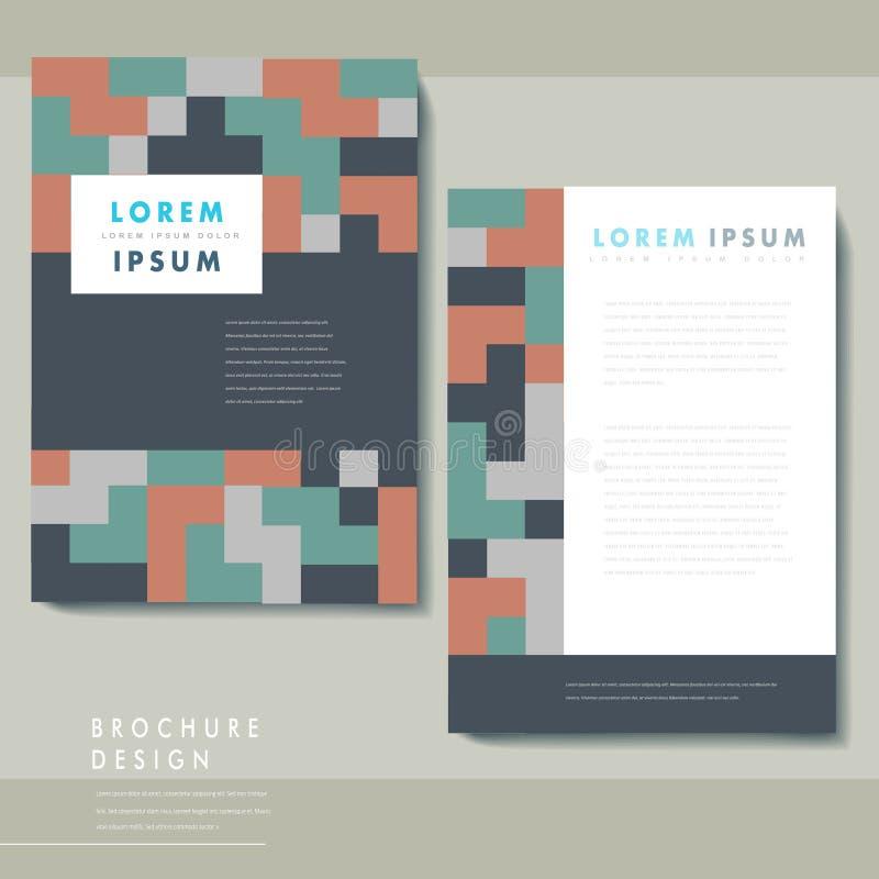 Creative geometric poster set template design vector illustration