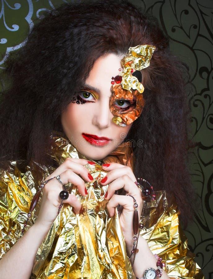 Creative girl. royalty free stock photos