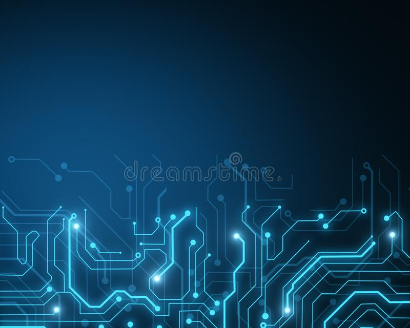 Glowing circuit wallpaper stock illustration. Illustration of chip ...