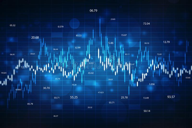 Stock market chart. Business graph background, Financial Background royalty free stock photo