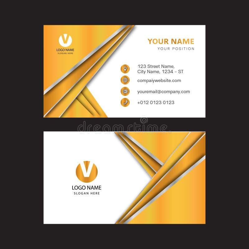 Creative Gold Color Business Card Design Stock Vector - Illustration ...