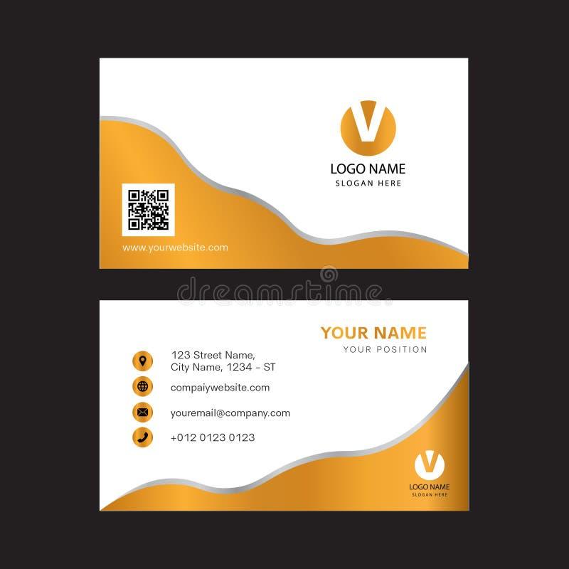 Creative gold color business card design. Print Ready, Modern design vector illustration